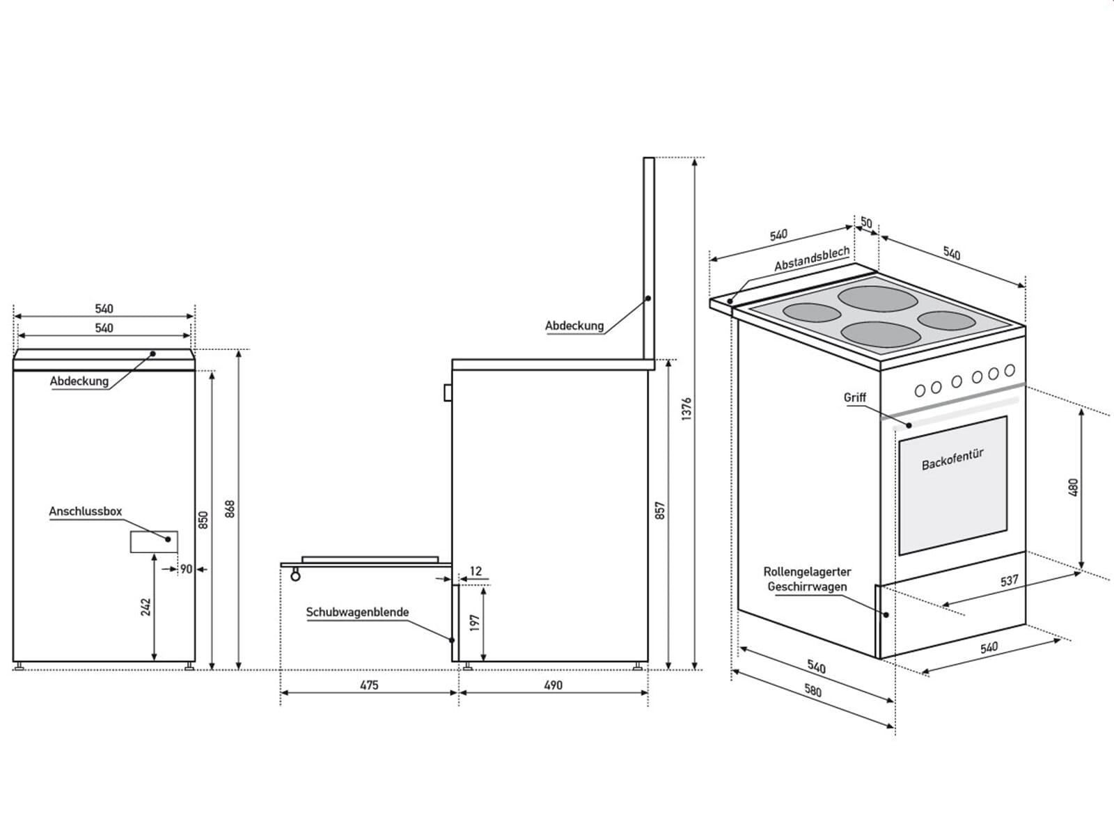 oranier fz 2299 2299 17 gas stand herd wei gasherd gaskochstelle freistehend ebay. Black Bedroom Furniture Sets. Home Design Ideas