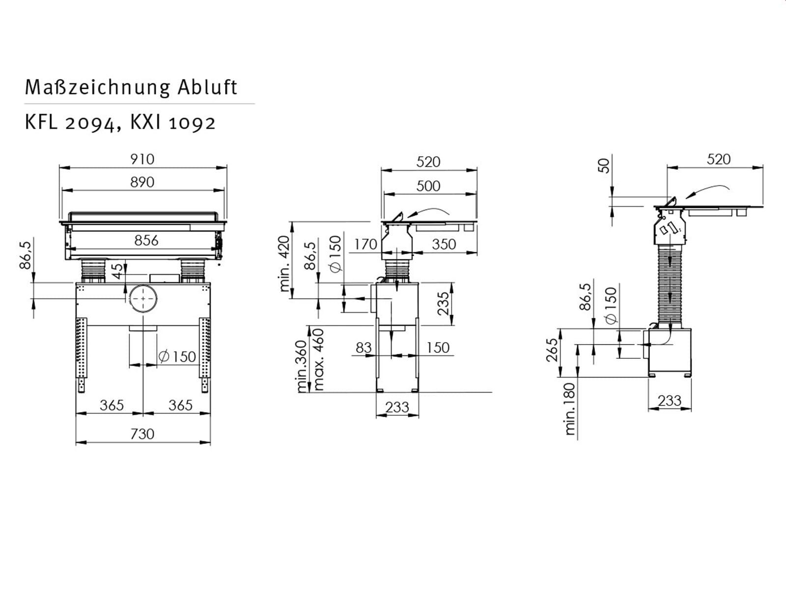 oranier kfl 2094 209455 induktionskochfeld dunstabzug kombi kochfeldabzug ebay. Black Bedroom Furniture Sets. Home Design Ideas
