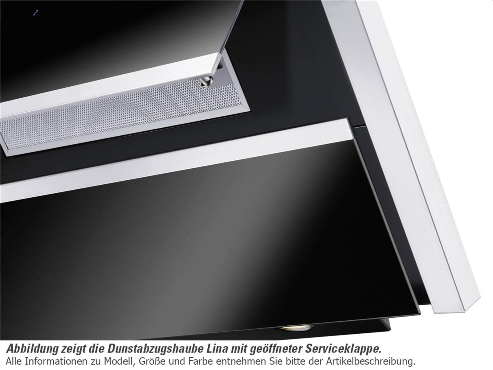 oranier lina 90 s 8713 92 kopffrei wand dunstabzugshaube edelstahl schwarz f r 808 90 eur. Black Bedroom Furniture Sets. Home Design Ideas