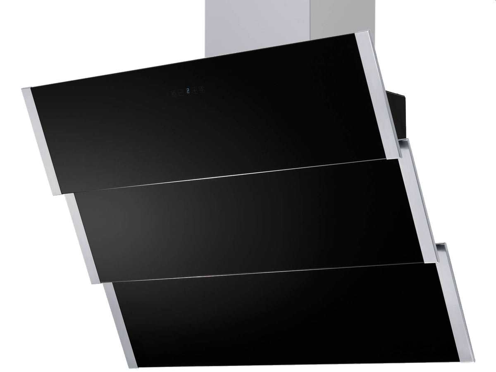 Dunstesse schwarz wandhaube kopffrei 75cm haube esse ebay for Dunstesse