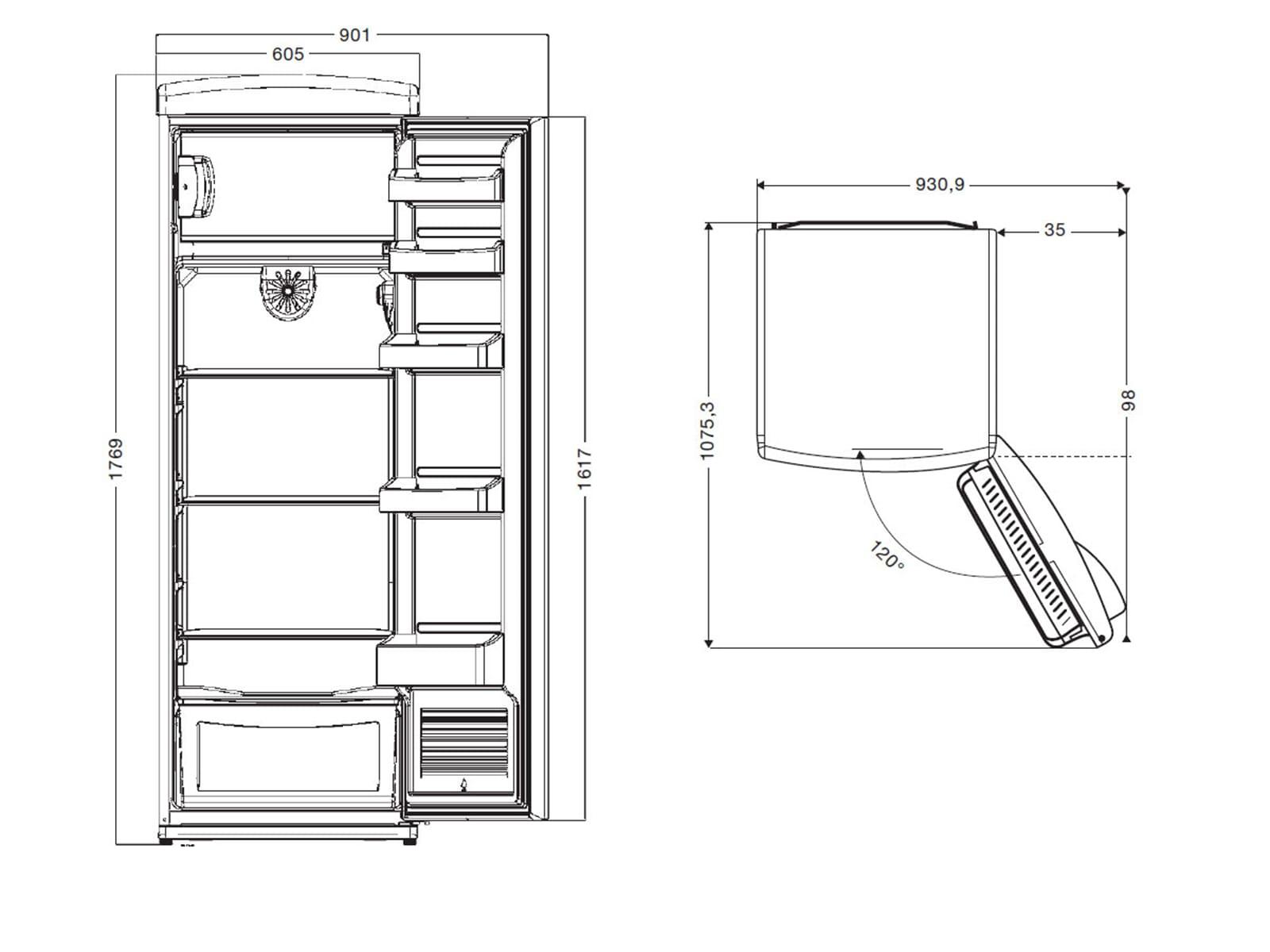 oranier rks 1 standger t k hlschrank lindgr n eisfach retro freistehend k hler. Black Bedroom Furniture Sets. Home Design Ideas