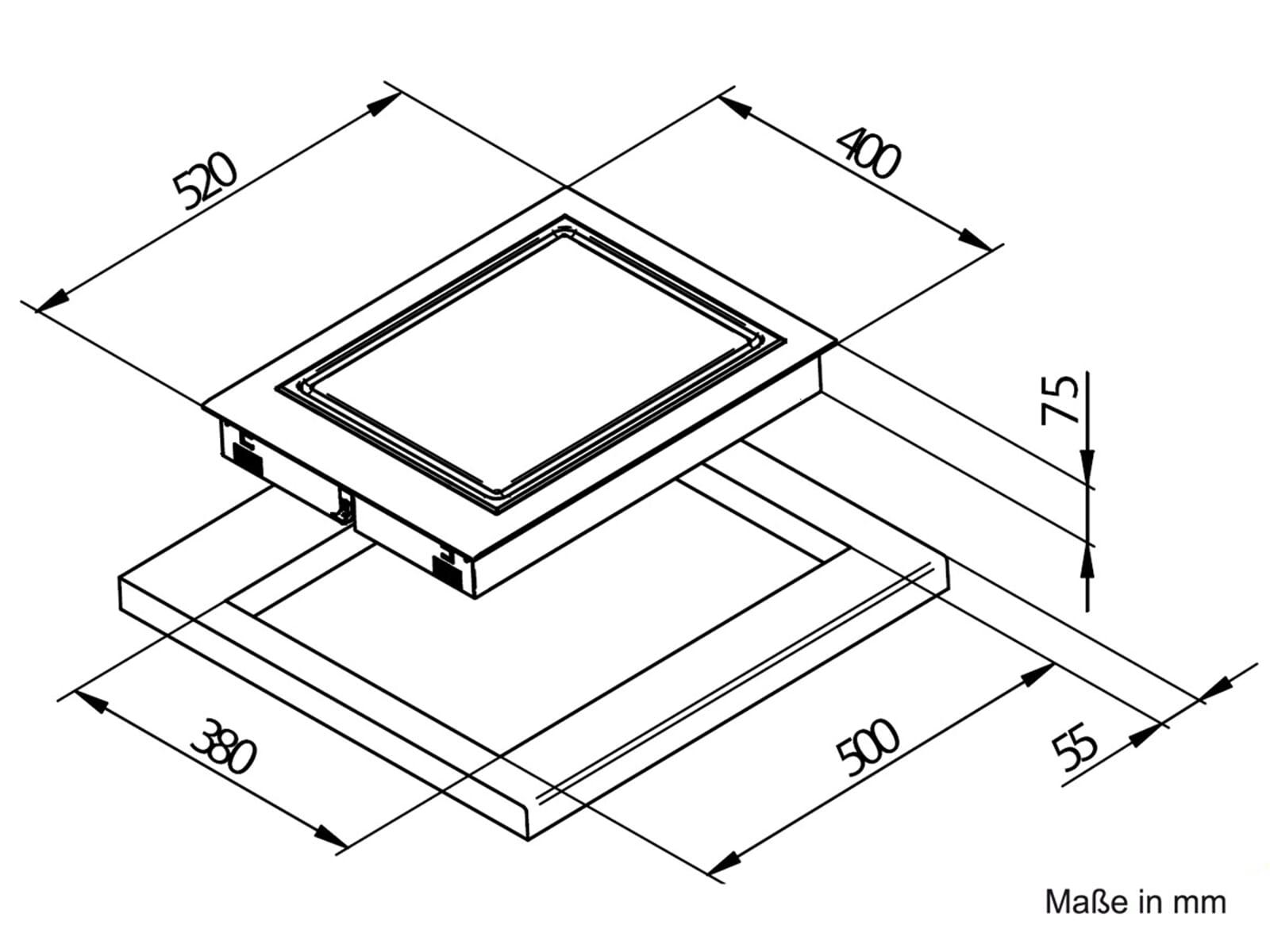 domino kochfeld teppan yaki edelstahl autark 40cm einbau. Black Bedroom Furniture Sets. Home Design Ideas