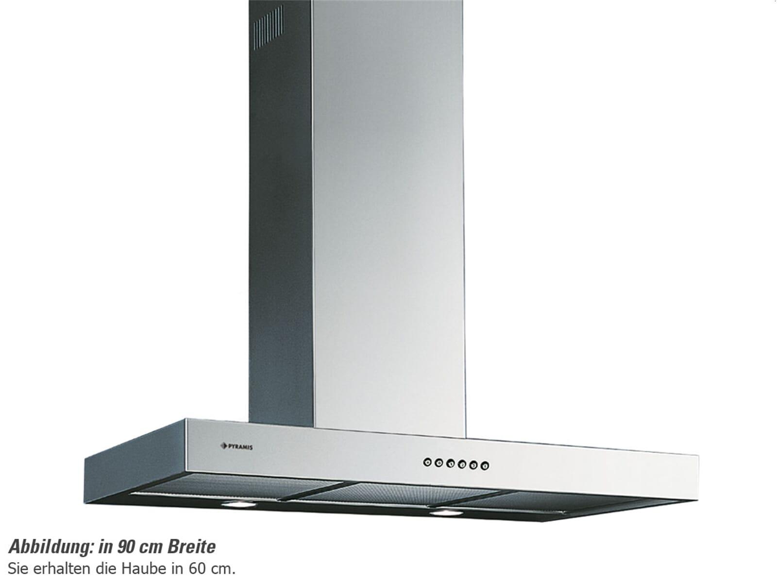 pyramis agilo 60 wand dunstabzugshaube edelstahl f r 298 90 eur. Black Bedroom Furniture Sets. Home Design Ideas
