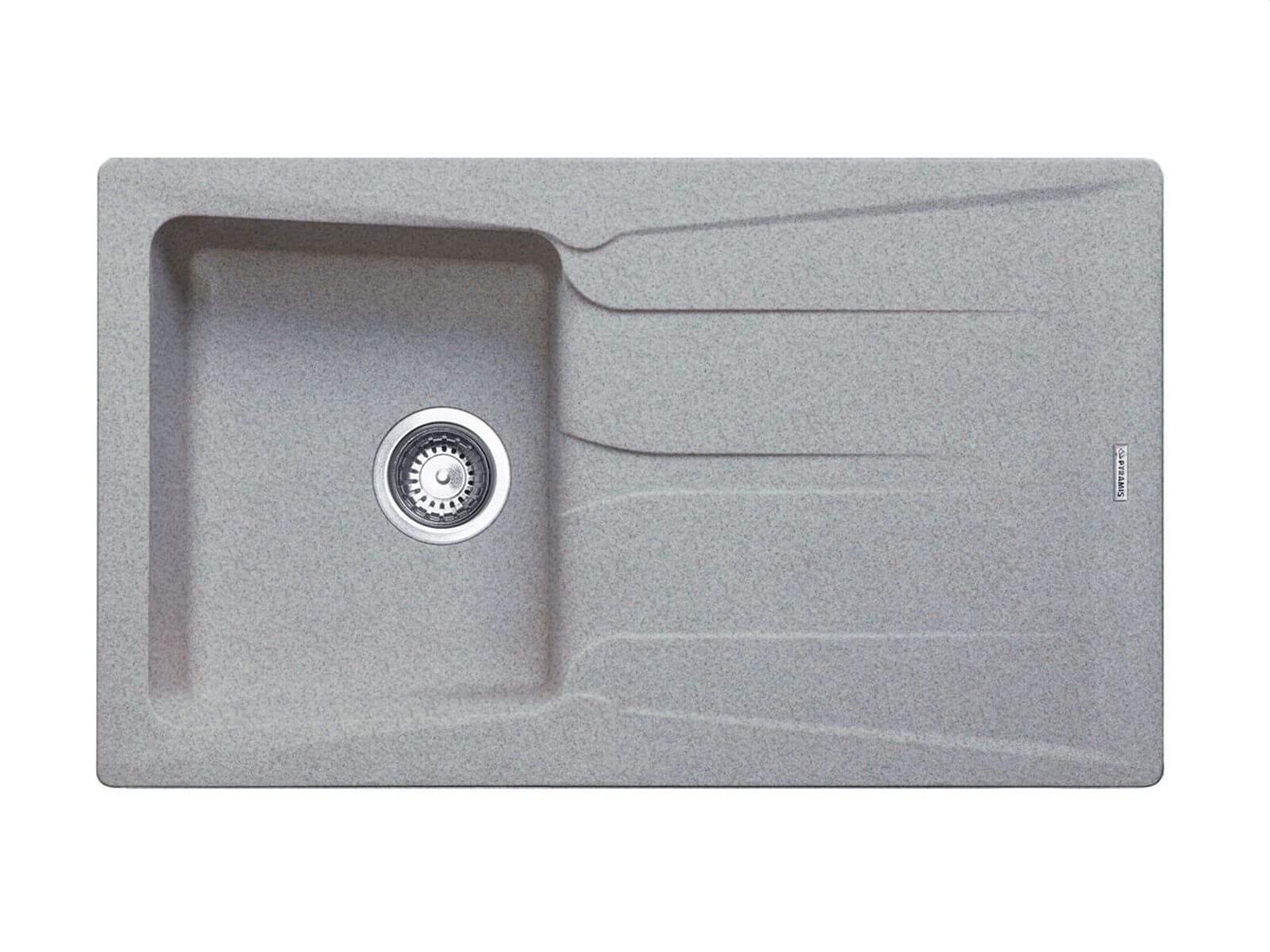 einbausp le granit pyramis pyragranite petra1b 1d grey grau ebay. Black Bedroom Furniture Sets. Home Design Ideas