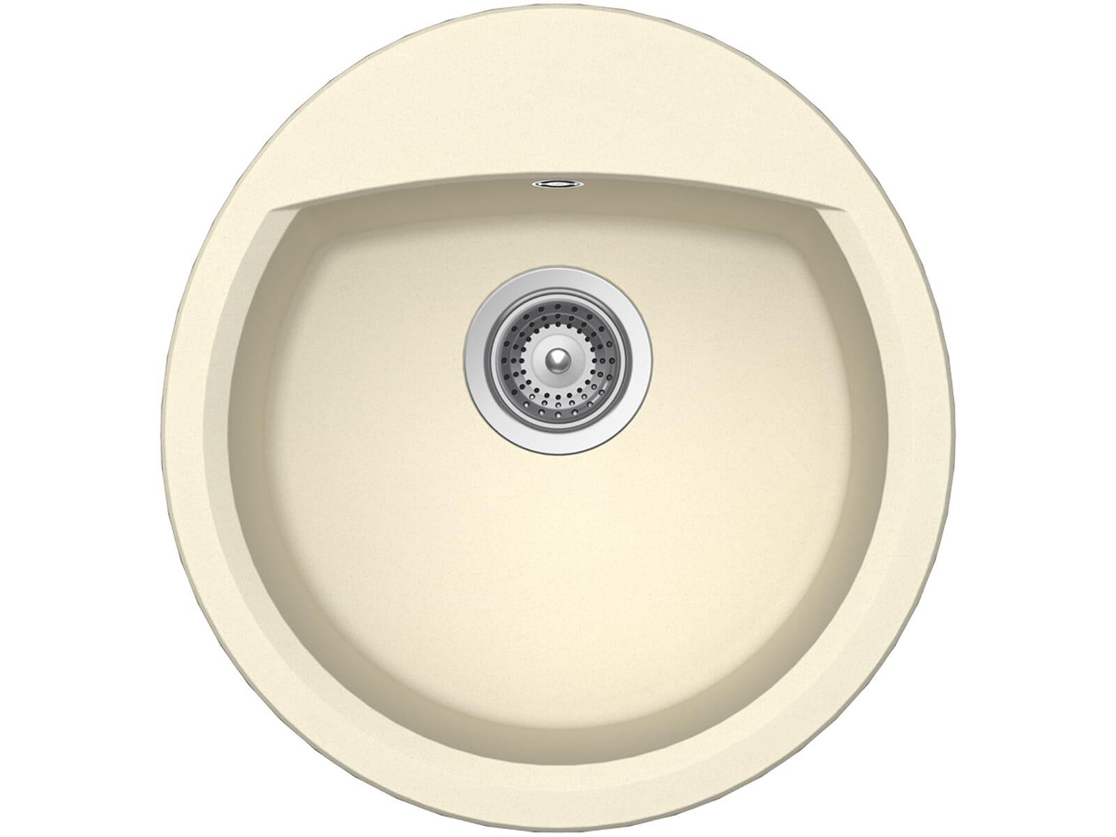 schock manhattan r 100 a crema granit sp le beige einbau rund k chensp le klein ebay. Black Bedroom Furniture Sets. Home Design Ideas