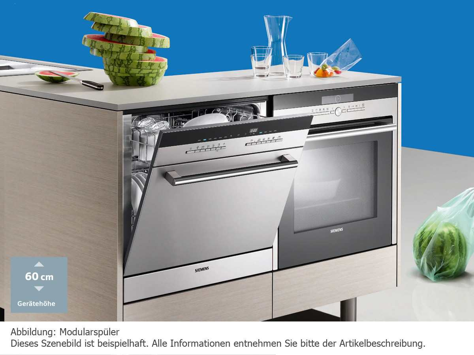 Siemens SC76M540EU Einbau Modular Geschirrspüler Edelstahl