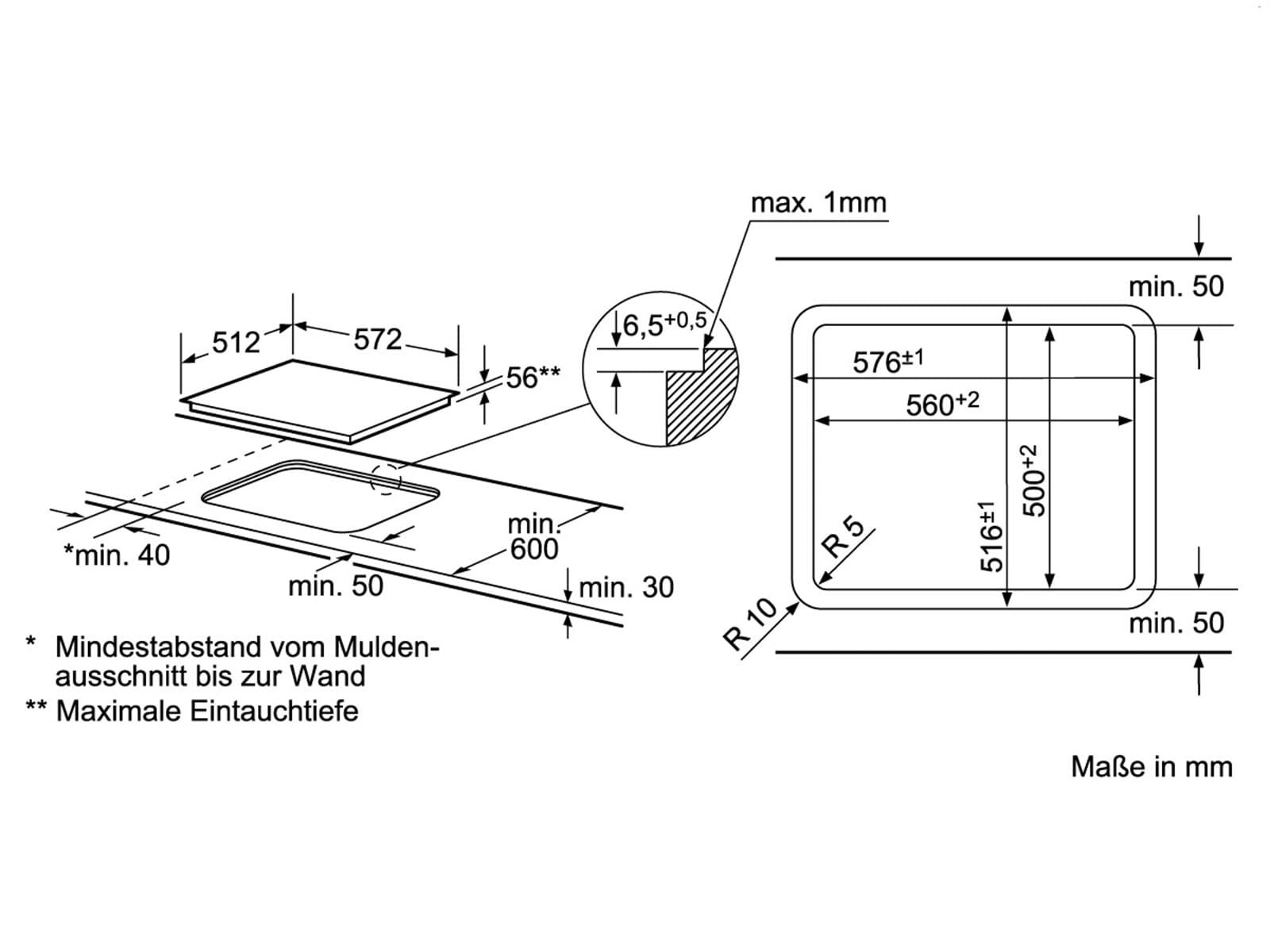 siemens ei601bb17 induktion glaskeramik kochfeld herdgebunden f r 724 90 eur. Black Bedroom Furniture Sets. Home Design Ideas