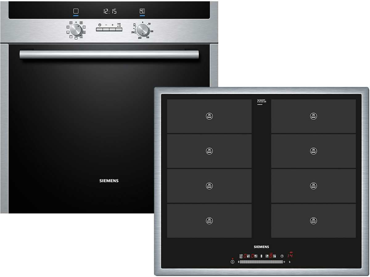 siemens eq2z029 set backofen hb33gu545 induktion kochfeld eh645fv17e ebay. Black Bedroom Furniture Sets. Home Design Ideas