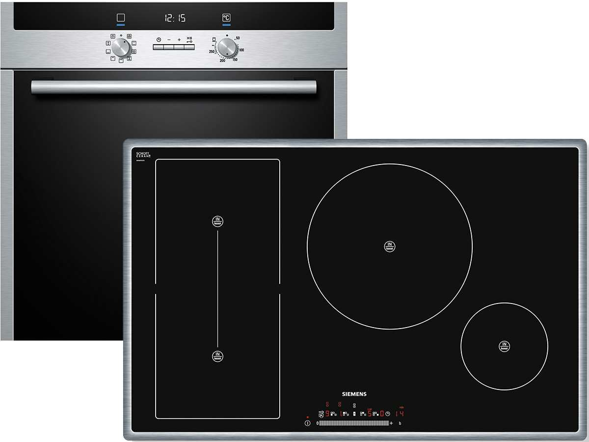 siemens eq2z037 set backofen hb33gu545 induktion kochfeld eh845ft17e ebay. Black Bedroom Furniture Sets. Home Design Ideas