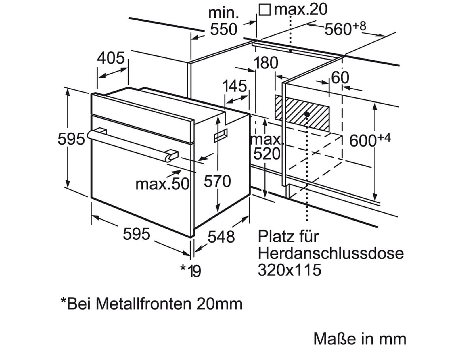 Siemens HB78GB570 Pyrolyse Backofen Edelstahl