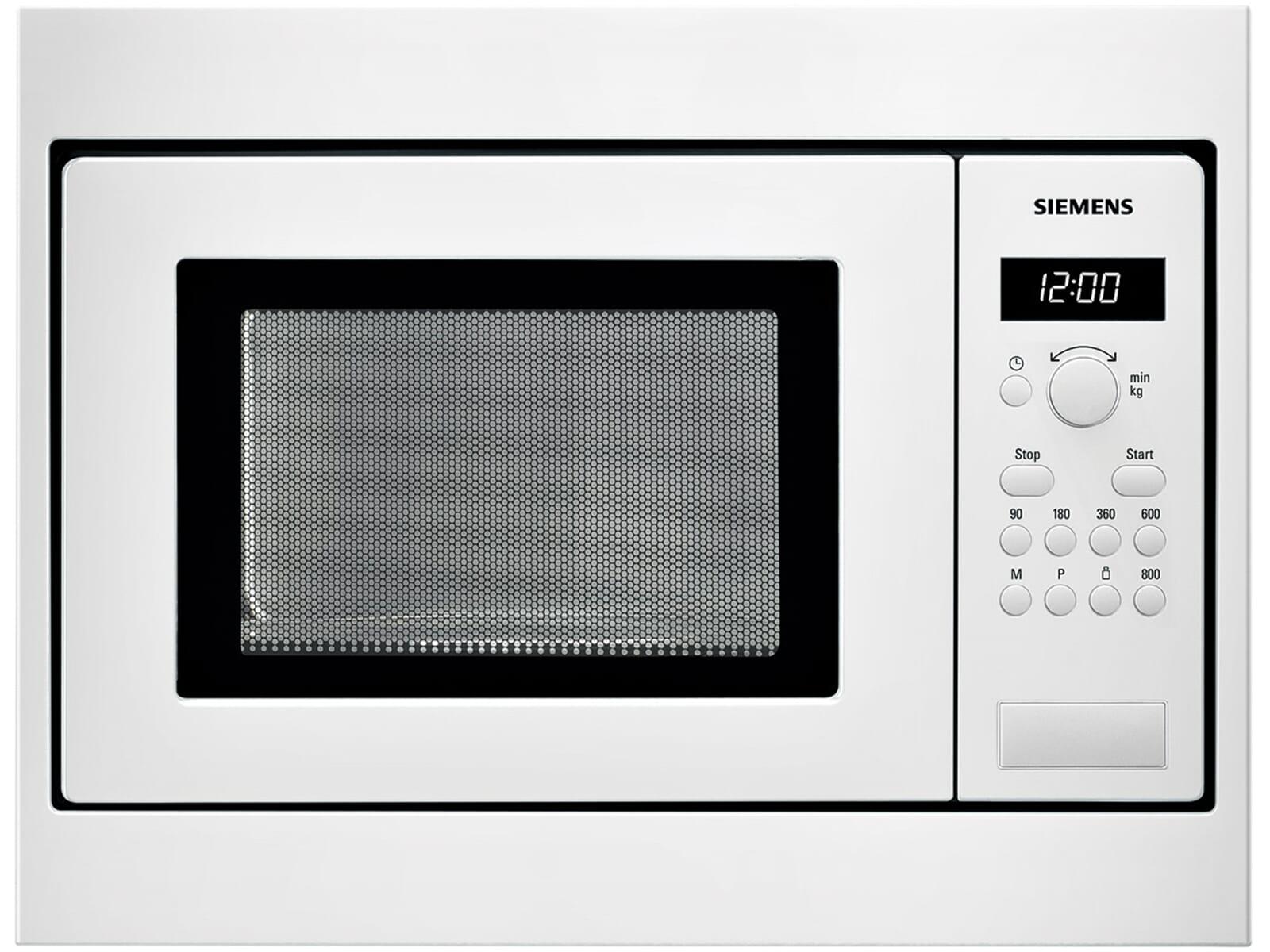siemens hf15m252 einbau mikrowelle wei f r h ngeschrank 800 watt 17 liter ebay. Black Bedroom Furniture Sets. Home Design Ideas