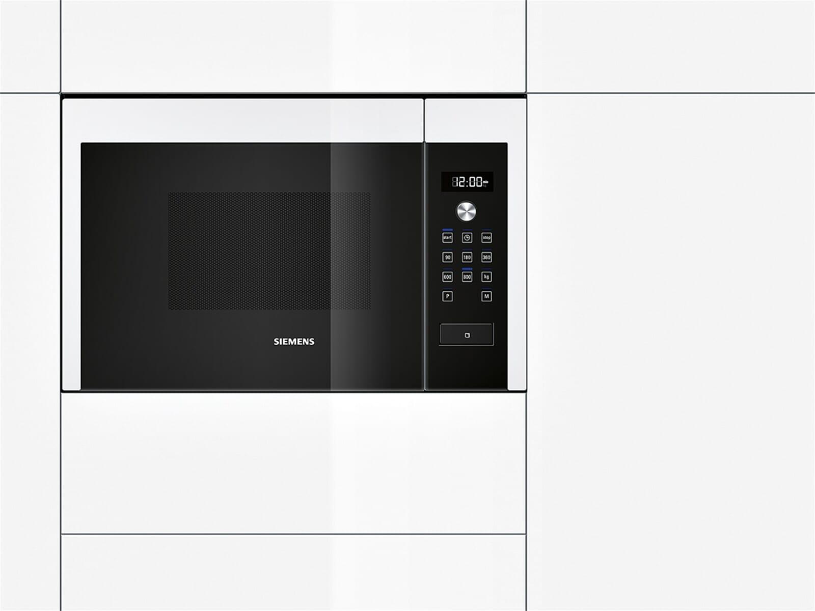 siemens hf15m264 einbau mikrowelle wei mikrowellenofen 900 w. Black Bedroom Furniture Sets. Home Design Ideas