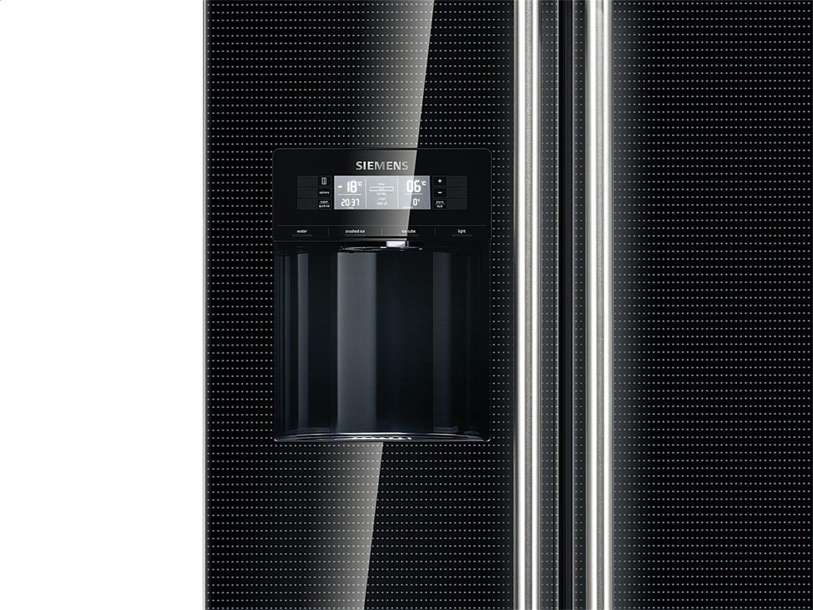 siemens ka62ds51 side by side k hl gefrier kombination schwarz f r 2338 90 eur. Black Bedroom Furniture Sets. Home Design Ideas