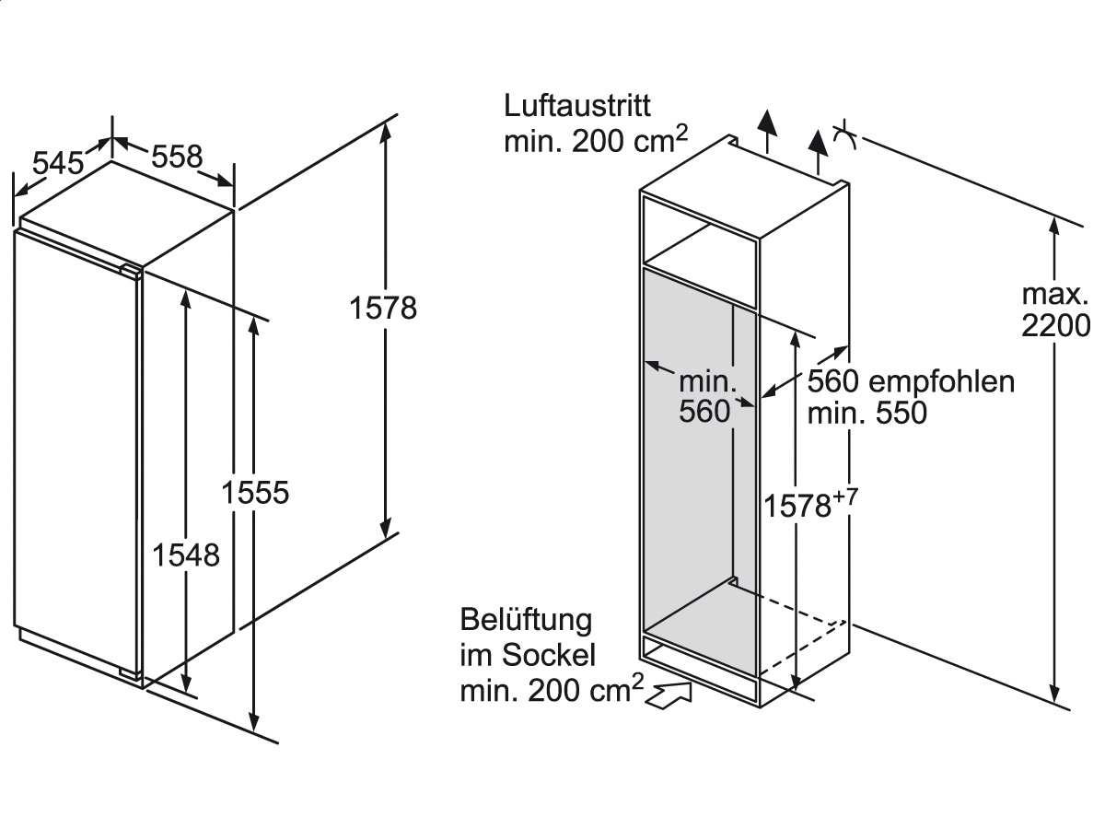 siemens ki72lad30 einbauk hlschrank 4242003621950 ebay. Black Bedroom Furniture Sets. Home Design Ideas
