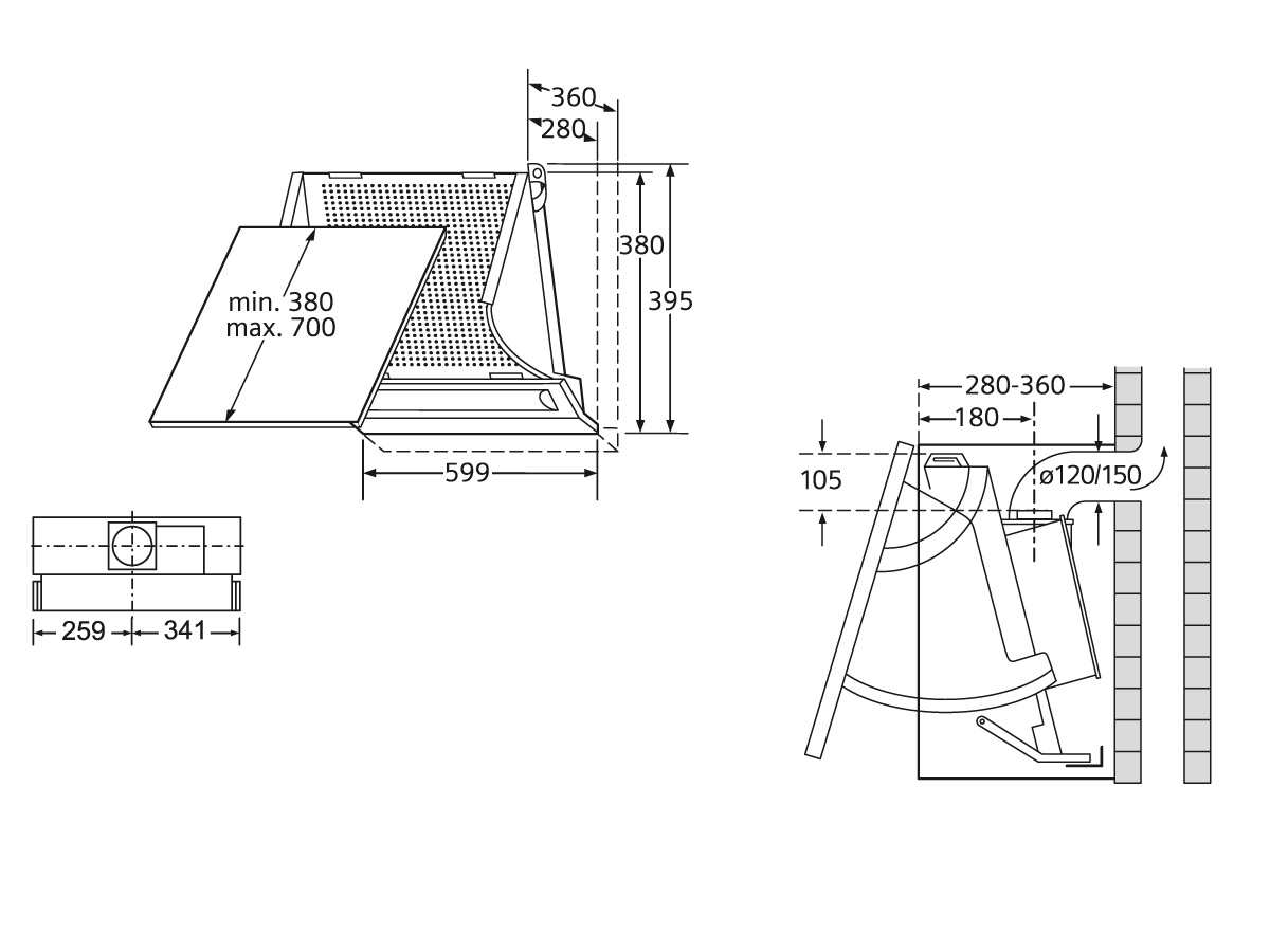 siemens le61130 zwischenbauhaube silbermetallic 60cm. Black Bedroom Furniture Sets. Home Design Ideas