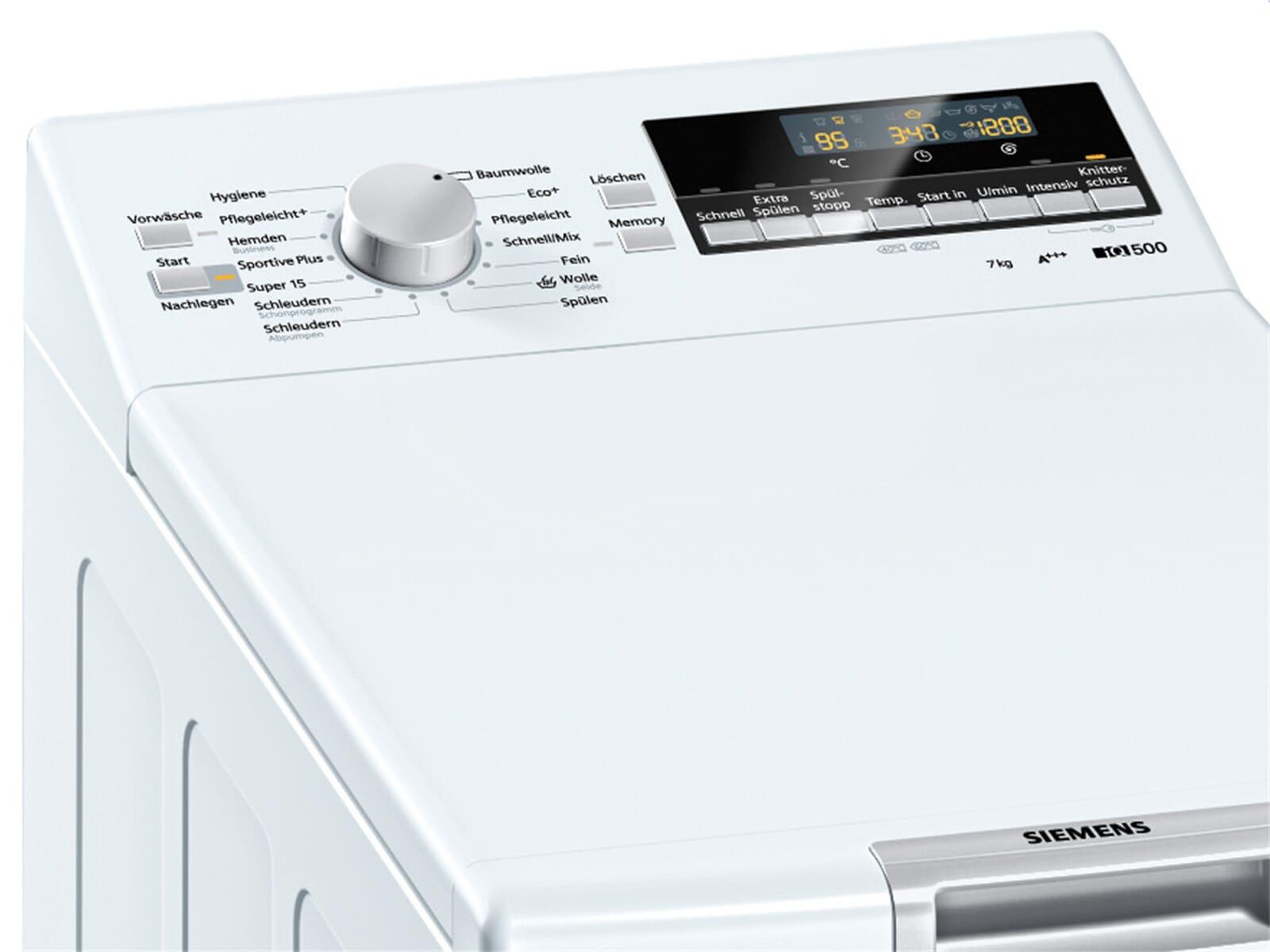 siemens wp12t447 stand waschmaschine wei toplader waschautomat 7 kg 1200 u min ebay. Black Bedroom Furniture Sets. Home Design Ideas