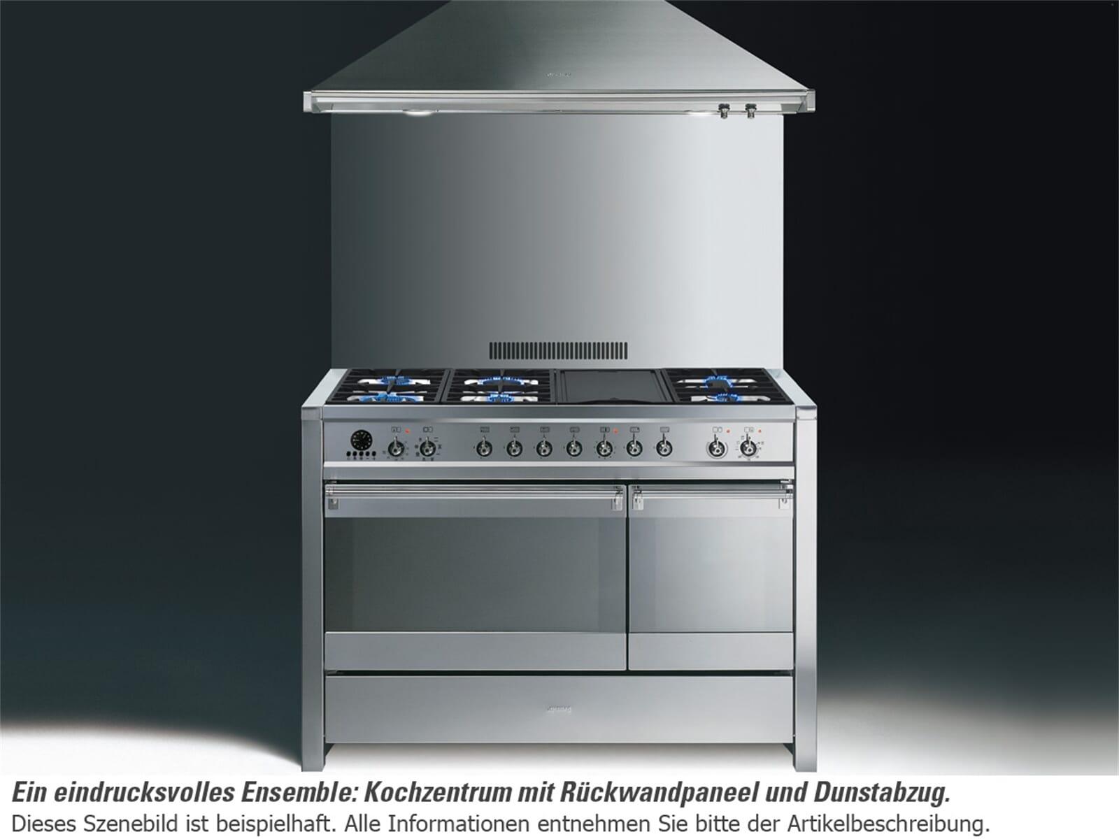 smeg a3d 7 gaskochfeld kombi standherd edelstahl backofen. Black Bedroom Furniture Sets. Home Design Ideas