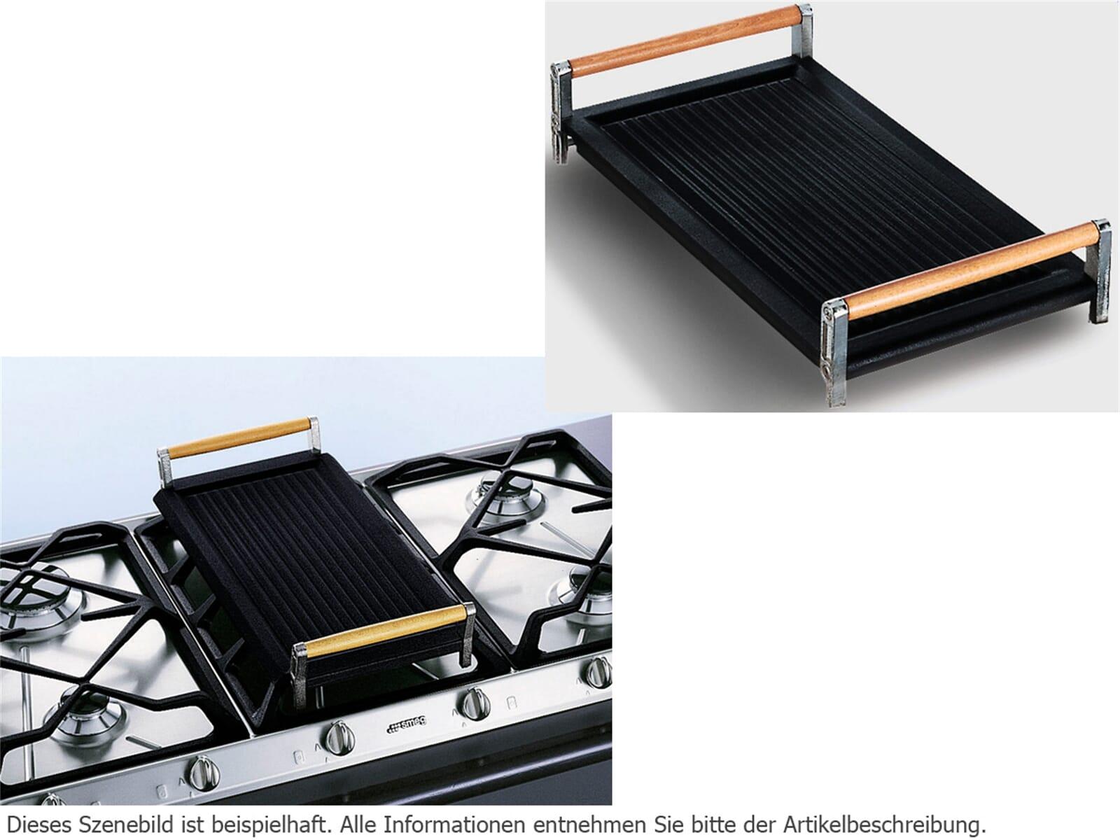 smeg bb3679 grillplatte gusseisen zubeh r gaskochfelder grillaufsatz ebay. Black Bedroom Furniture Sets. Home Design Ideas