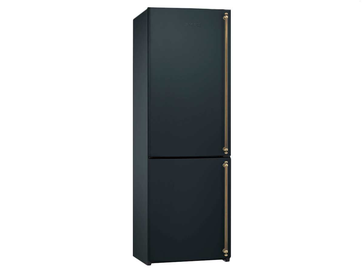 smeg fa860as stand k hlkombi tiefk hlschrank anthrazit griff messing nofrost a ebay. Black Bedroom Furniture Sets. Home Design Ideas