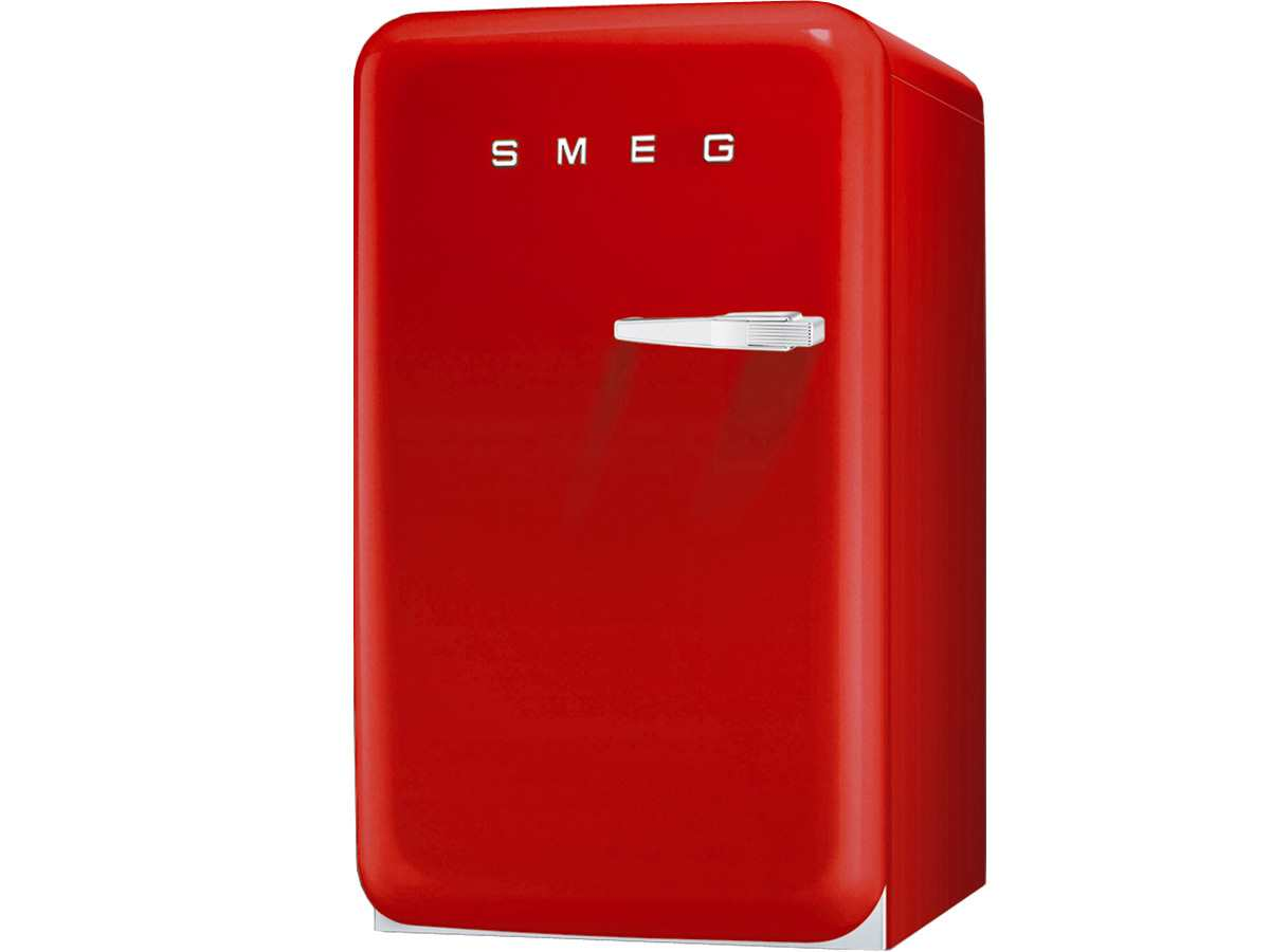 smeg fab10hlr stand flaschenk hlschrank rot t ranschlag. Black Bedroom Furniture Sets. Home Design Ideas