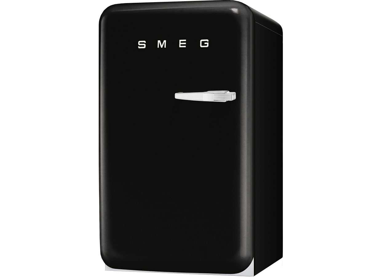 smeg fab10lne standger t k hlschrank schwarz retro 50er jahre a freistehend ebay. Black Bedroom Furniture Sets. Home Design Ideas