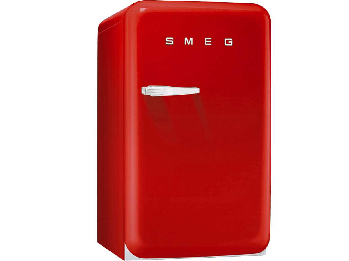 smeg fab10rr stand k hlschrank rot mit gefrierfach abtauautomatik nostalgie a ebay. Black Bedroom Furniture Sets. Home Design Ideas