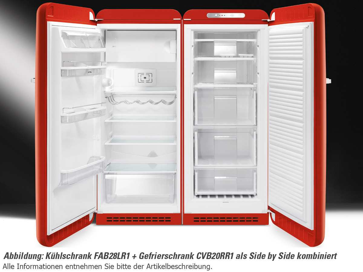 Smeg fab28lr1 stand k hlschrank rot f r 1099 00 eur shop for Side by side plans