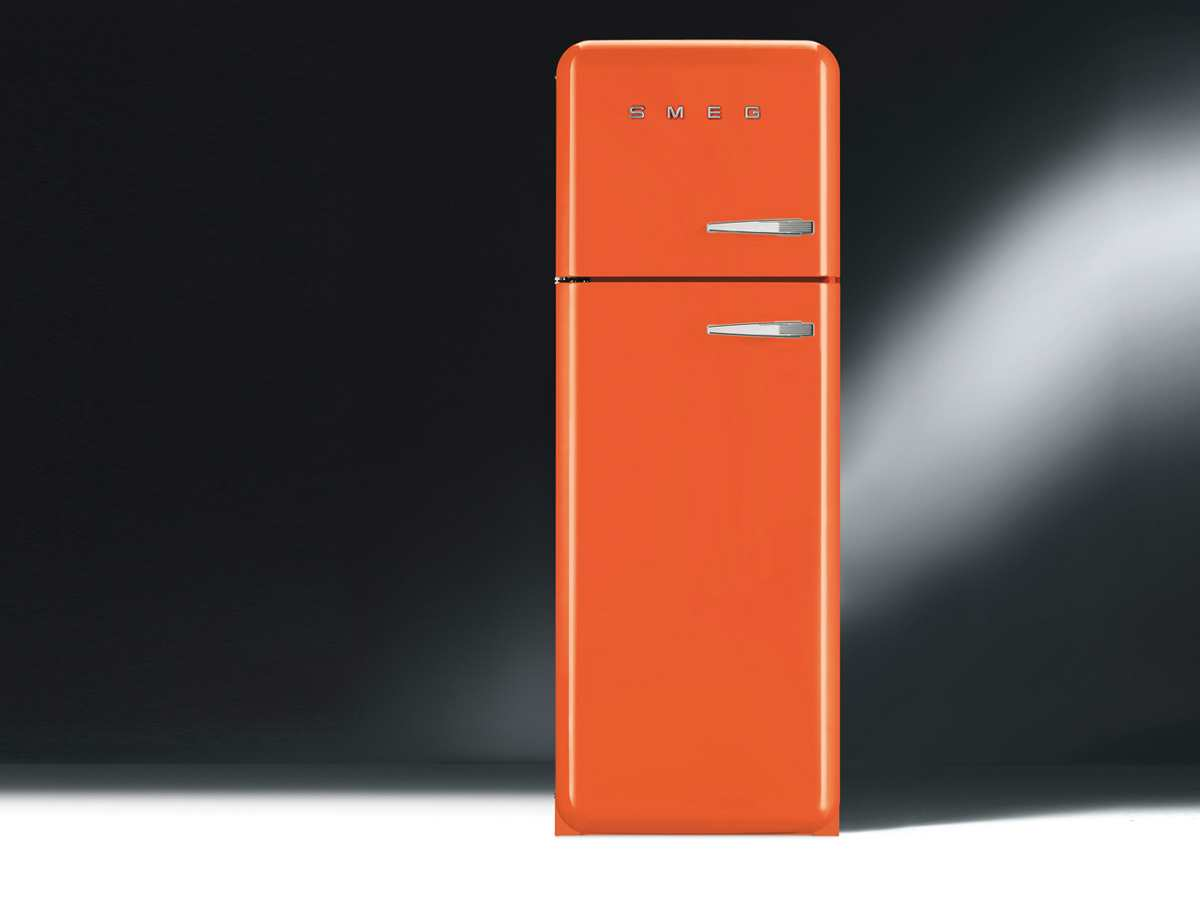 frigo orange. Black Bedroom Furniture Sets. Home Design Ideas