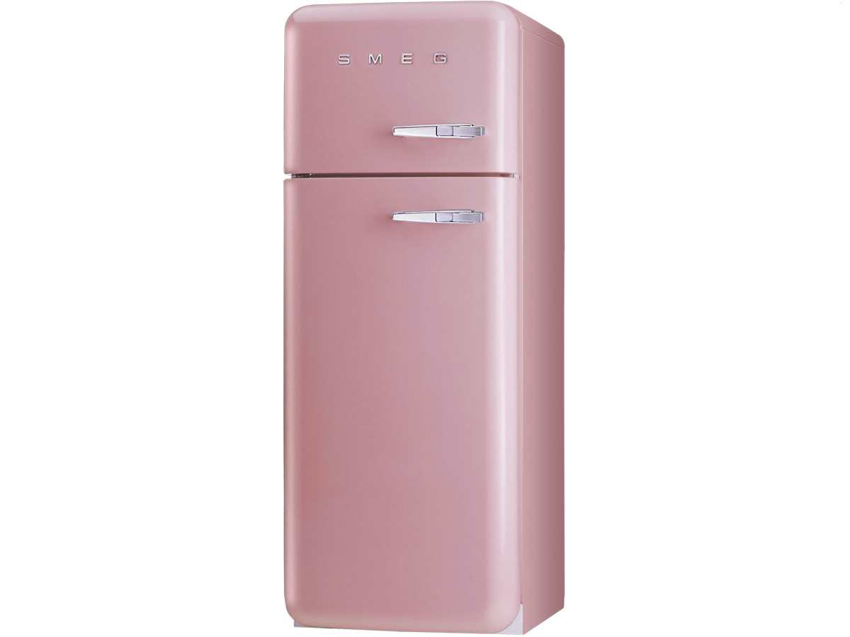 smeg fab30lro1 standger t k hl gefrier kombination cadillac pink k hschrank rosa ebay. Black Bedroom Furniture Sets. Home Design Ideas