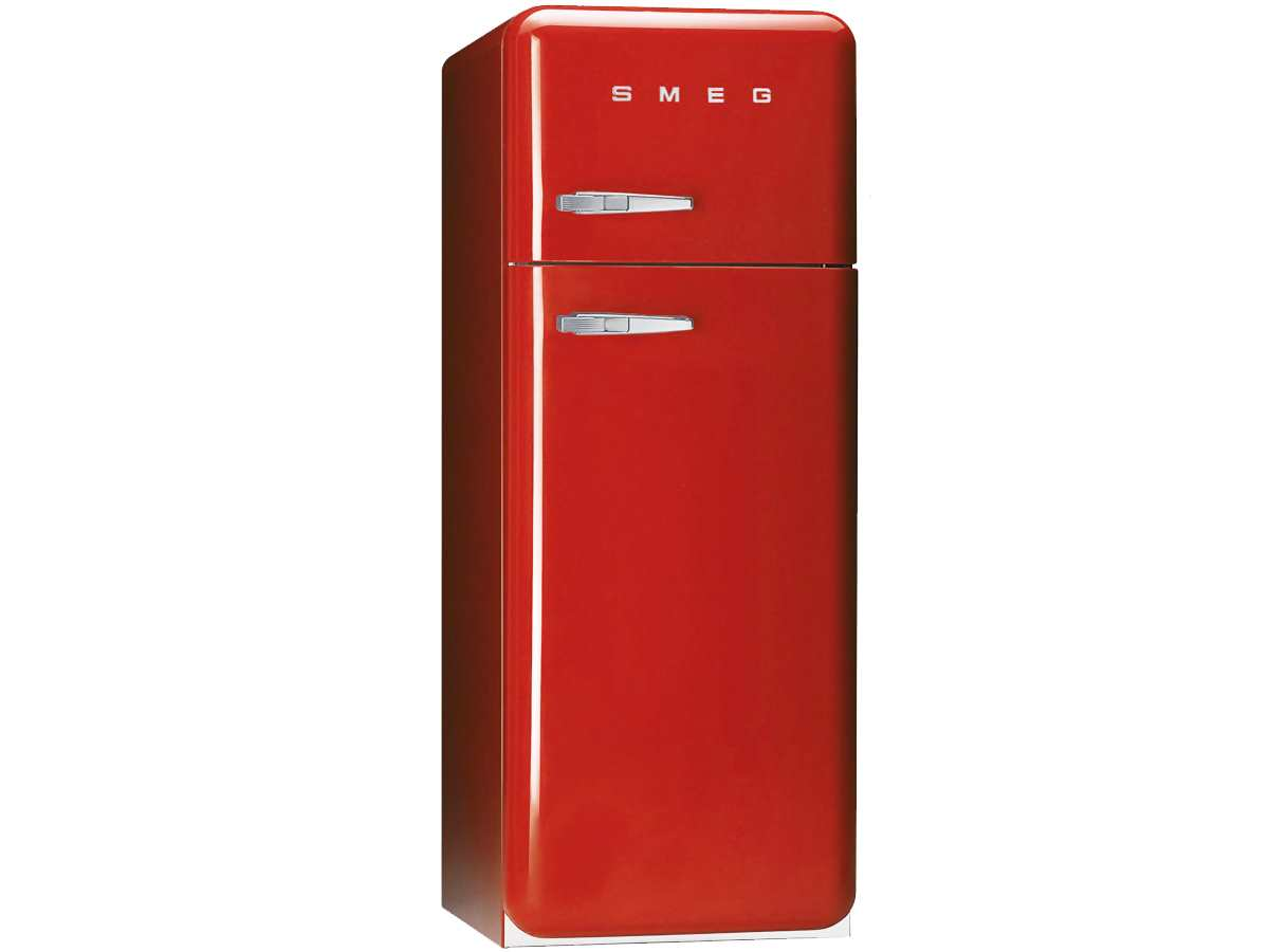 smeg fab30r7 freistehend k hl gefrier kombination rot k hlschrank nostalgie a ebay. Black Bedroom Furniture Sets. Home Design Ideas