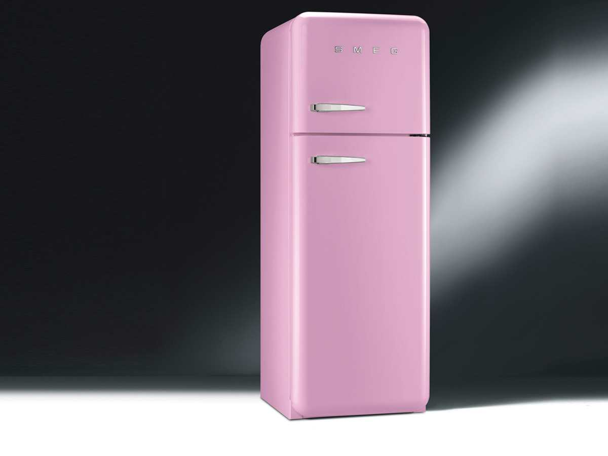 smeg fab30rro1 standk hlschrank gefrierkombi cadilac pink k hlger t retro a ebay. Black Bedroom Furniture Sets. Home Design Ideas