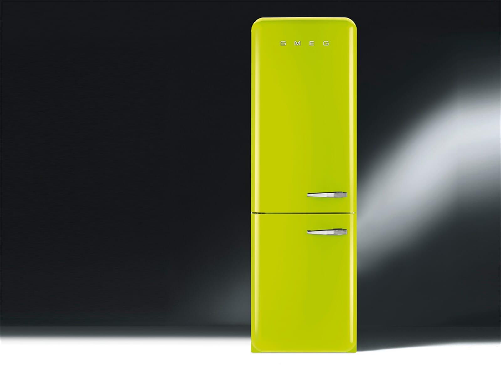 smeg fab32lven1 stand k hlkombination apfelgr n gr n k hlschrank retro a led ebay. Black Bedroom Furniture Sets. Home Design Ideas