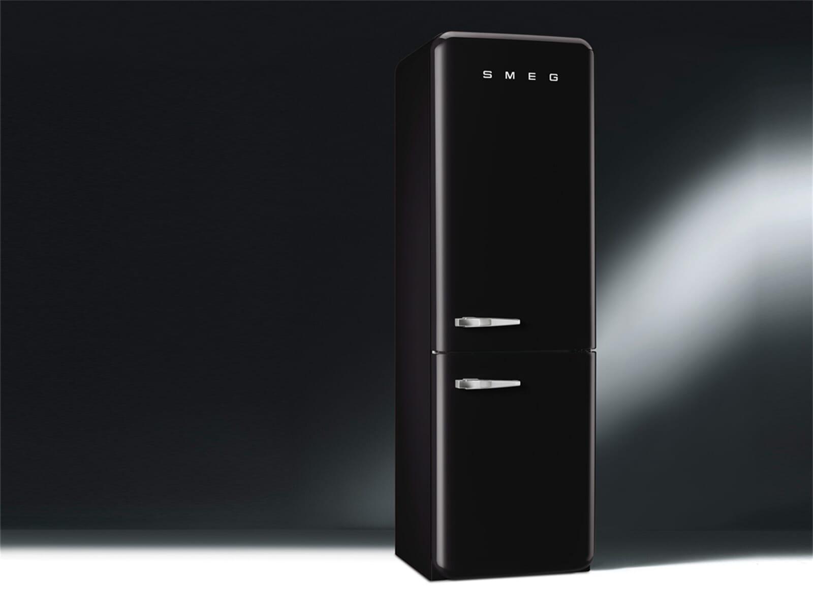 smeg fab32rnen1 k hl gefrierkombination schwarz ebay. Black Bedroom Furniture Sets. Home Design Ideas