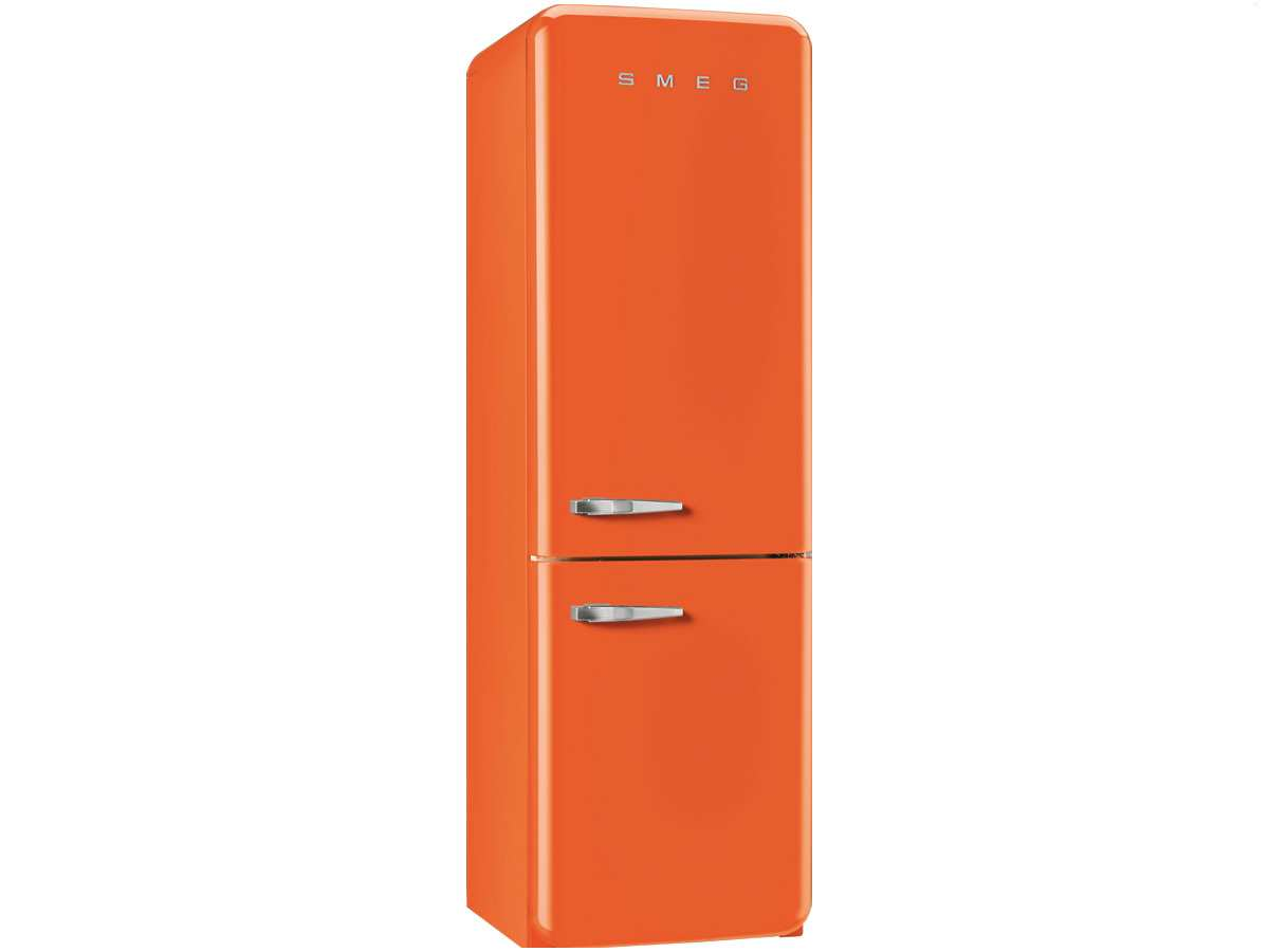 smeg fab32ron1 standger t k hl gefrier kombination orange nofrost retro a. Black Bedroom Furniture Sets. Home Design Ideas