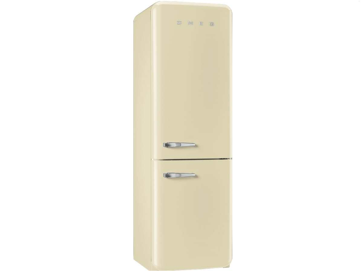 smeg fab32rp1 stand k hl gefrier kombination creme beige. Black Bedroom Furniture Sets. Home Design Ideas