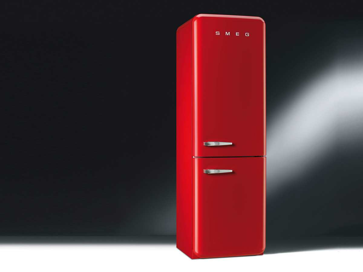 smeg fab32rrn1 standger t k hlkombi k hlschrank gefrierteil rot no frost a led ebay. Black Bedroom Furniture Sets. Home Design Ideas