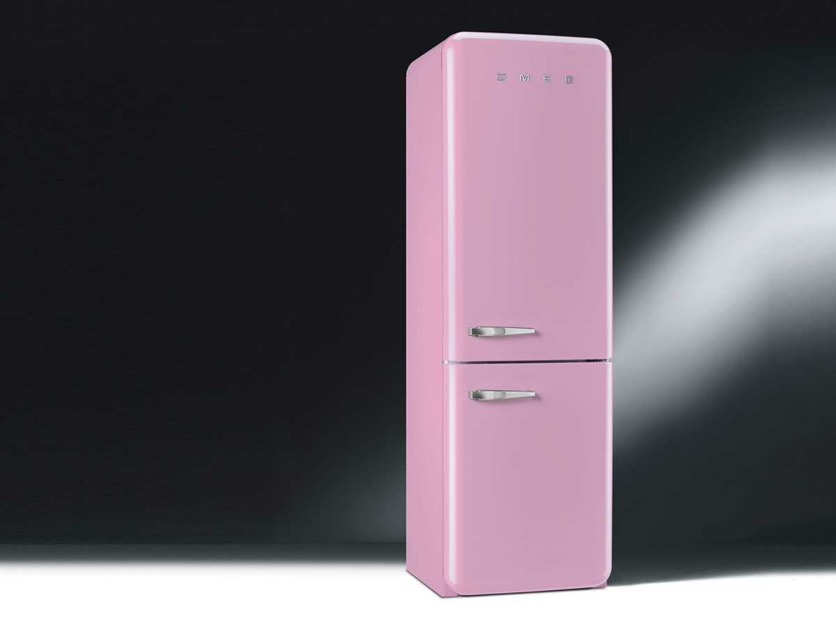 smeg fab32rron1 k hlkombination k hlschrank freistehend cadillac pink rosa a ebay. Black Bedroom Furniture Sets. Home Design Ideas