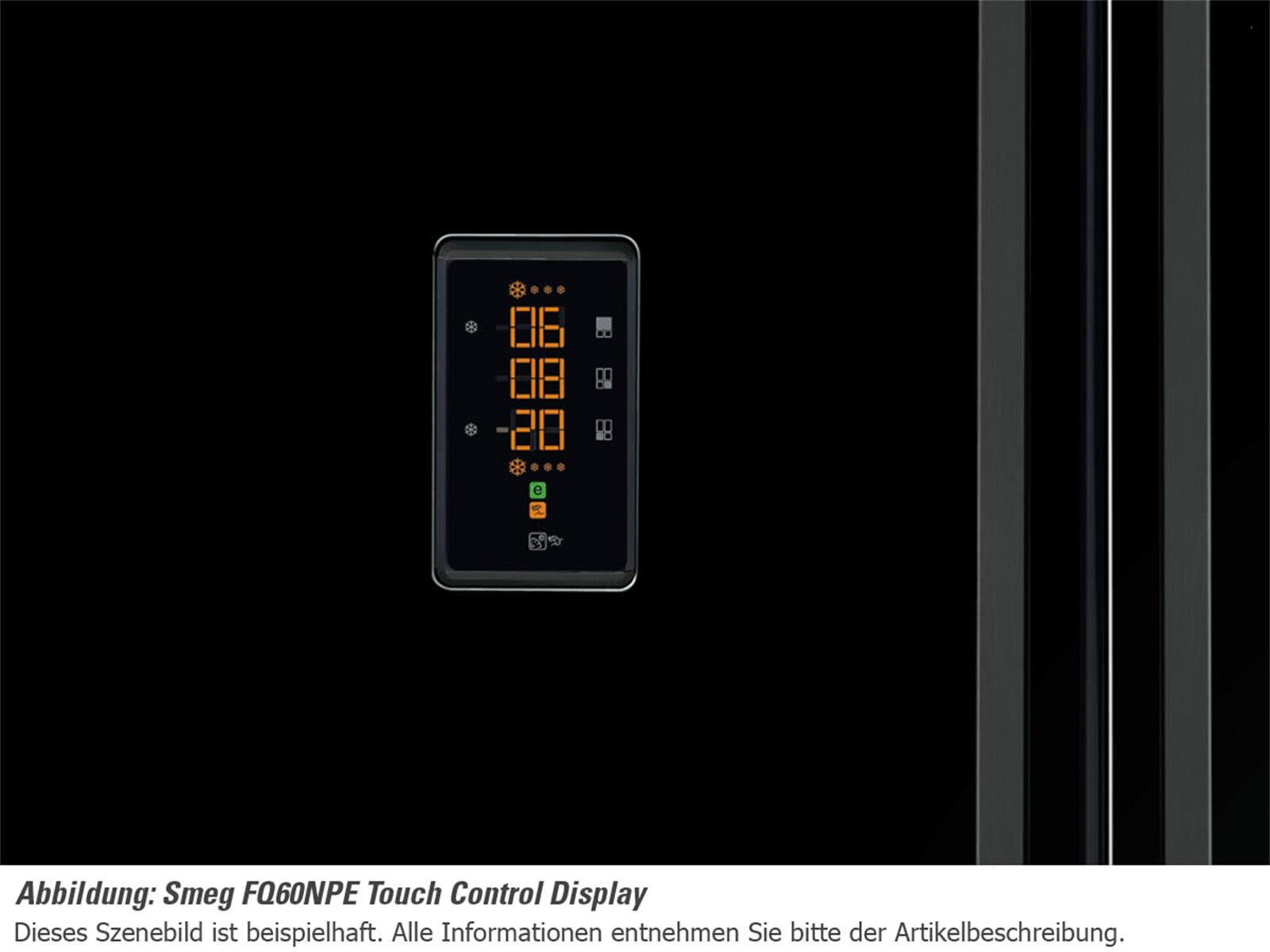 smeg fq60npe side by side k hl gefrier kombination schwarz ebay. Black Bedroom Furniture Sets. Home Design Ideas