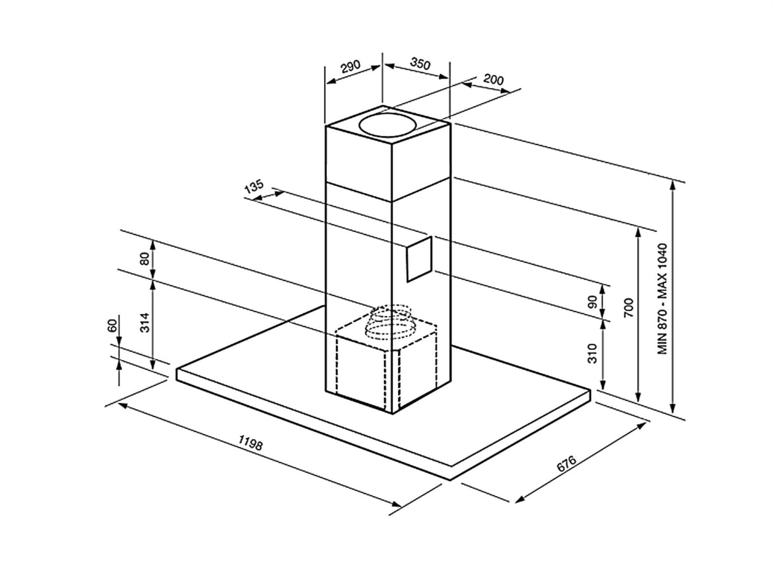 smeg ki120x 2 insel dunstabzugshaube edelstahl f r 999 00 eur. Black Bedroom Furniture Sets. Home Design Ideas