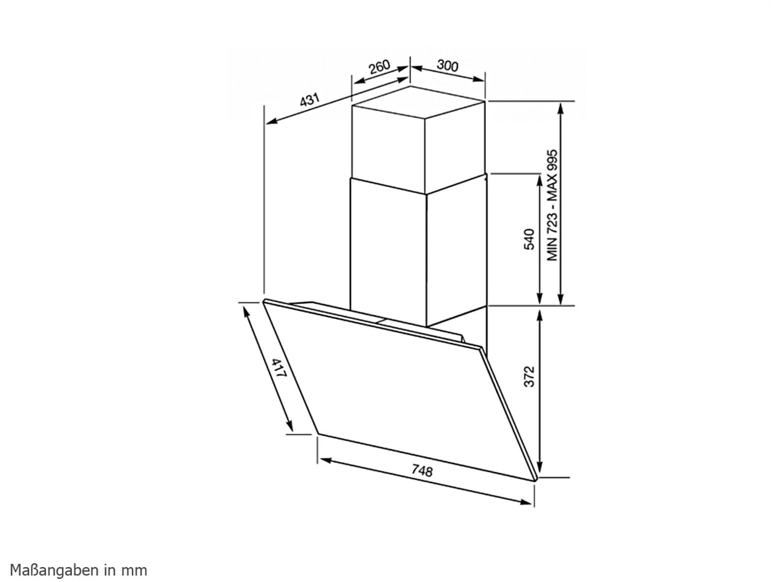 smeg kl175x kopffrei wand dunstabzugshaube edelstahl f r 759 00 eur. Black Bedroom Furniture Sets. Home Design Ideas