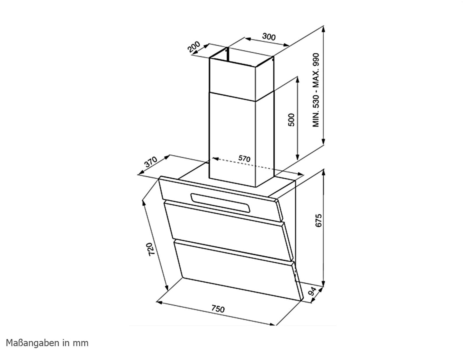smeg kmn75ab kopffrei wand dunstabzugshaube glas wei f r 1599 00 eur. Black Bedroom Furniture Sets. Home Design Ideas