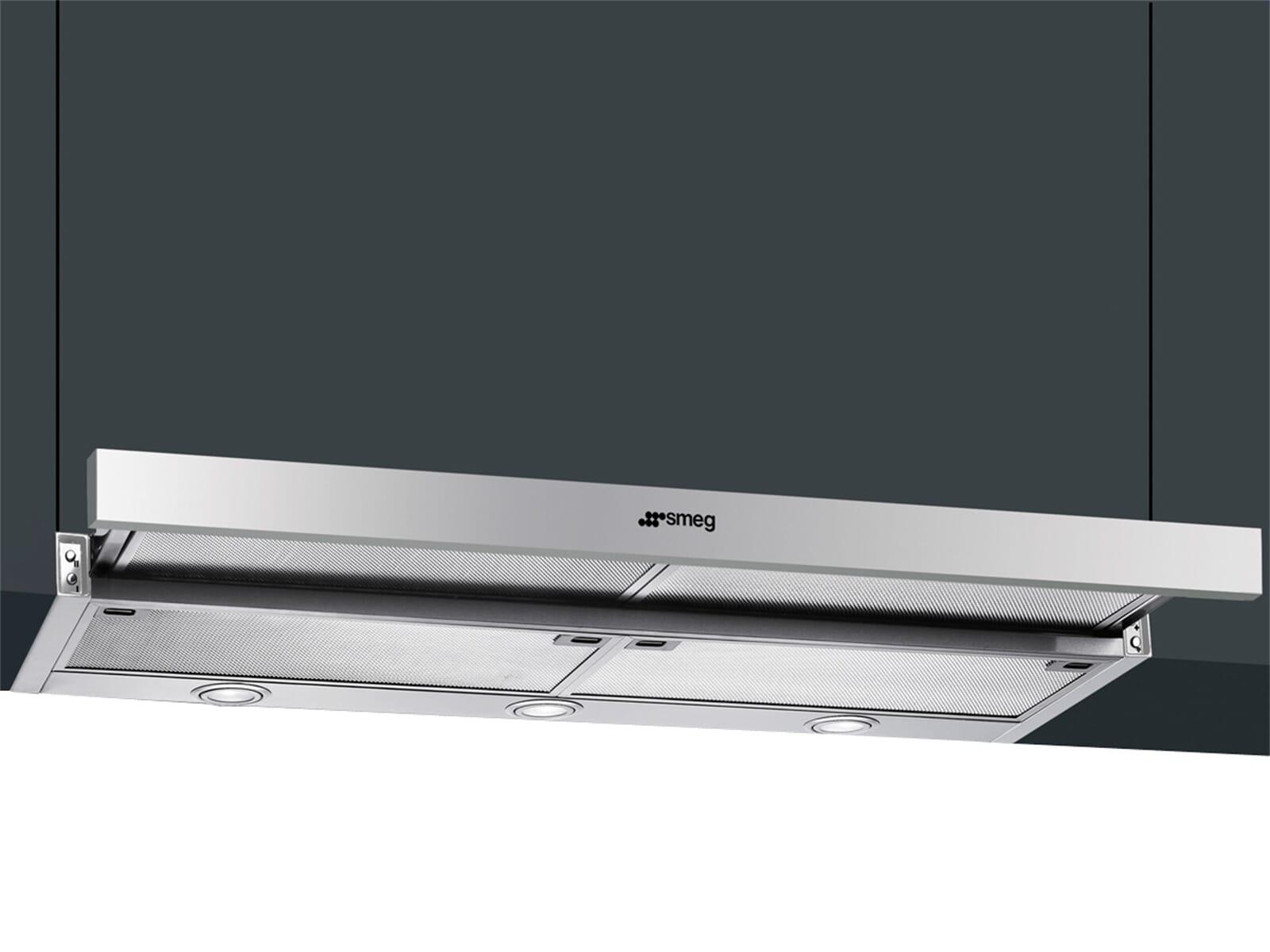 smeg kset910x flachschirm dunstabzugshaube edelstahl f r 449 00 eur. Black Bedroom Furniture Sets. Home Design Ideas