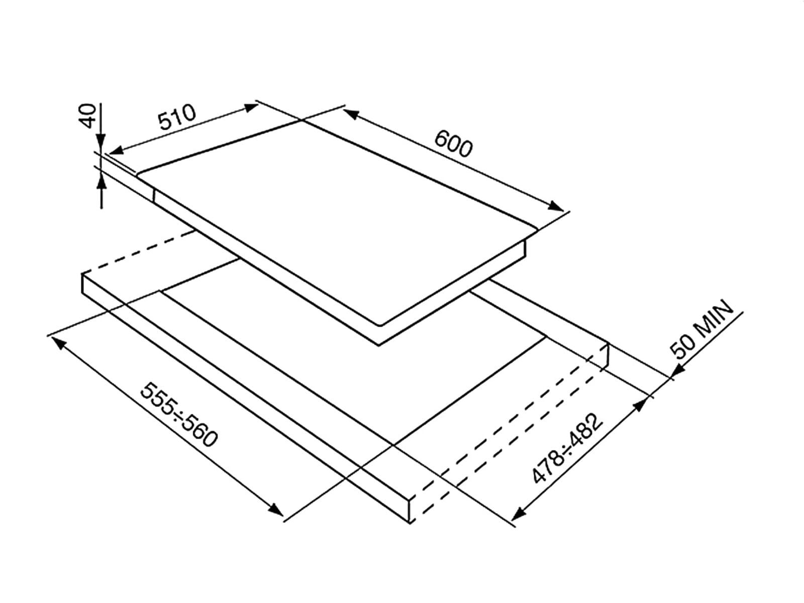 smeg p261xghd edelstahl gaskochfeld autark 60cm kochzone kochmulde kochstelle ebay. Black Bedroom Furniture Sets. Home Design Ideas