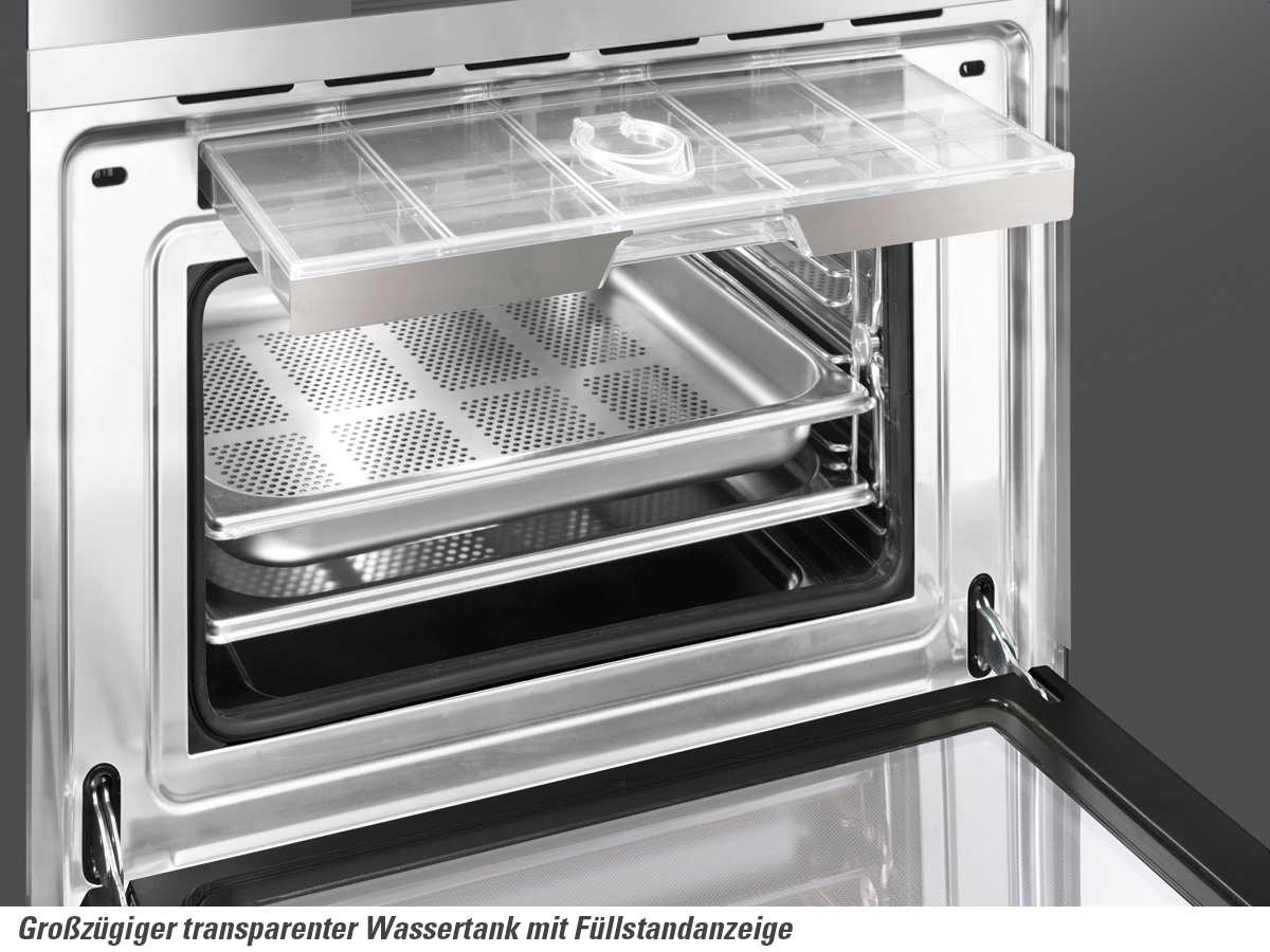 Smeg s45vx2 kompakt dampfgarer edelstahl fur 113900 eur for Dampfgarer edelstahl