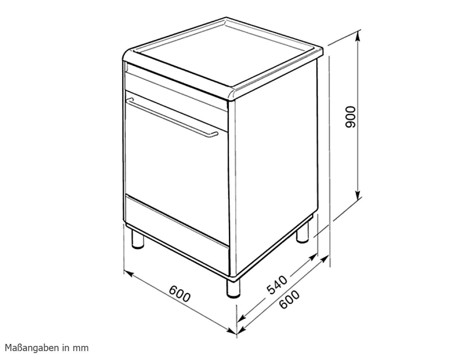smeg scd60imx8 induktion standger t herd edelstahl. Black Bedroom Furniture Sets. Home Design Ideas