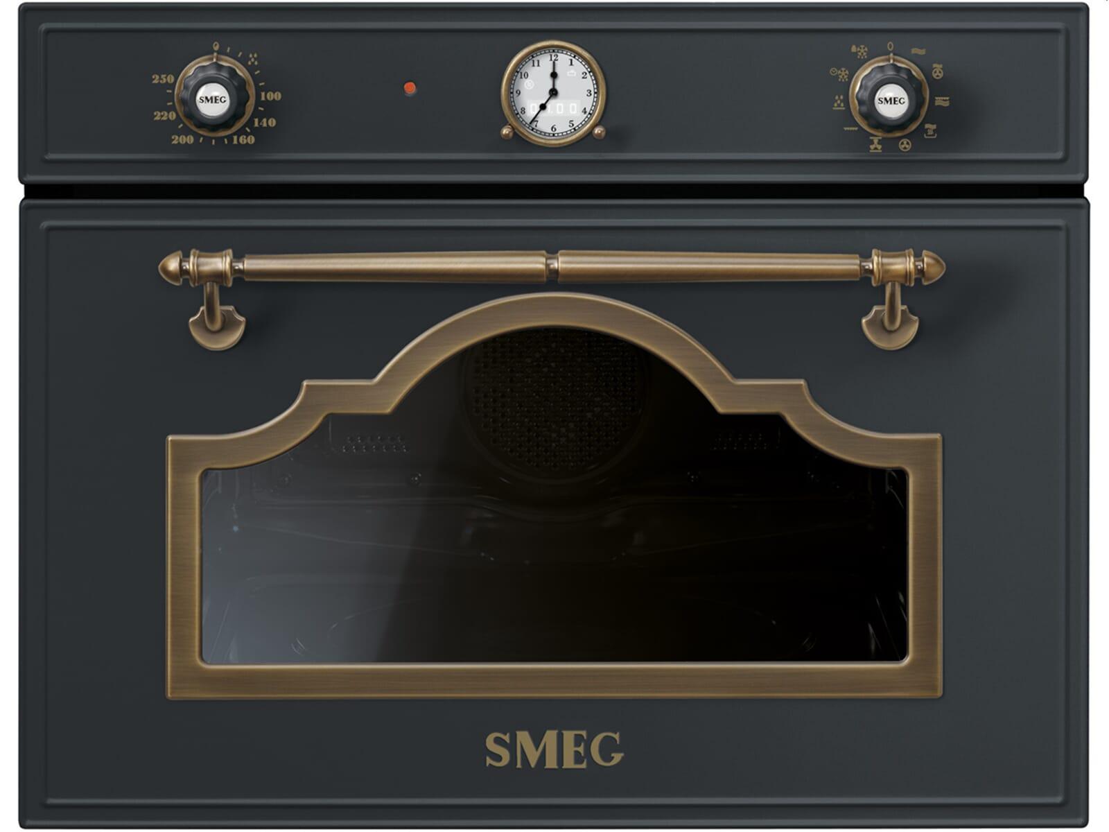 smeg sf4750mcao kompakt backofen mit mikrowelle anthrazit ebay. Black Bedroom Furniture Sets. Home Design Ideas