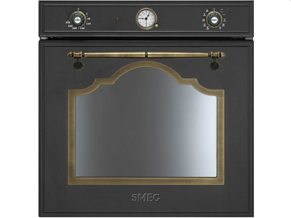 smeg sf750ao backofen anthrazit nostalgie reinigungsfunktion hei luft ebay. Black Bedroom Furniture Sets. Home Design Ideas