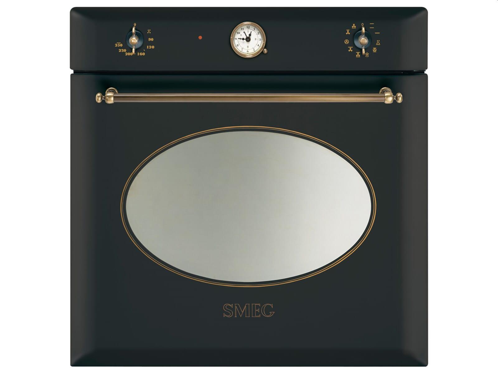 smeg sf855ao backofen anthrazit nostalgie einbaubackofen einbauherd schwarz ebay. Black Bedroom Furniture Sets. Home Design Ideas