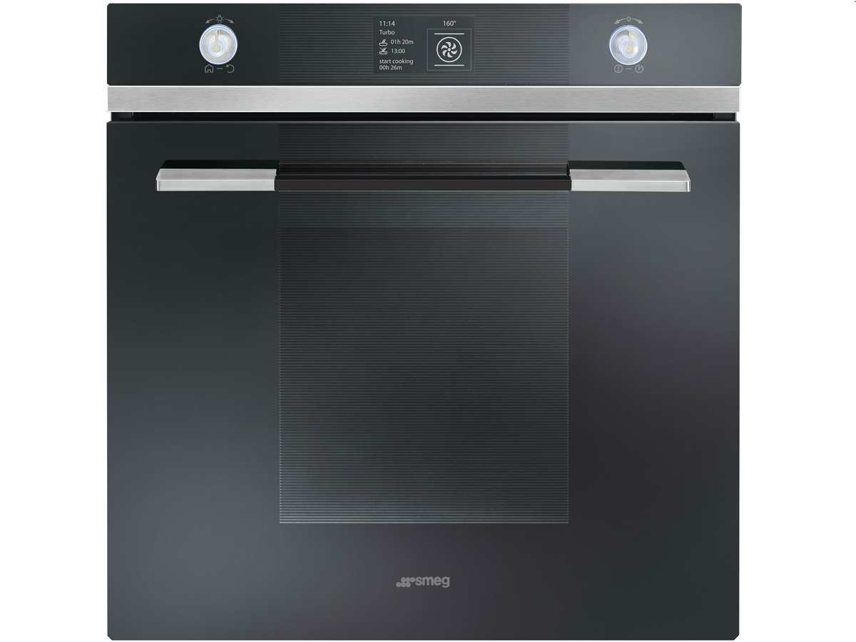 smeg sfp130n pyrolyse backofen schwarz automatikprogramme drehspie tft display ebay. Black Bedroom Furniture Sets. Home Design Ideas