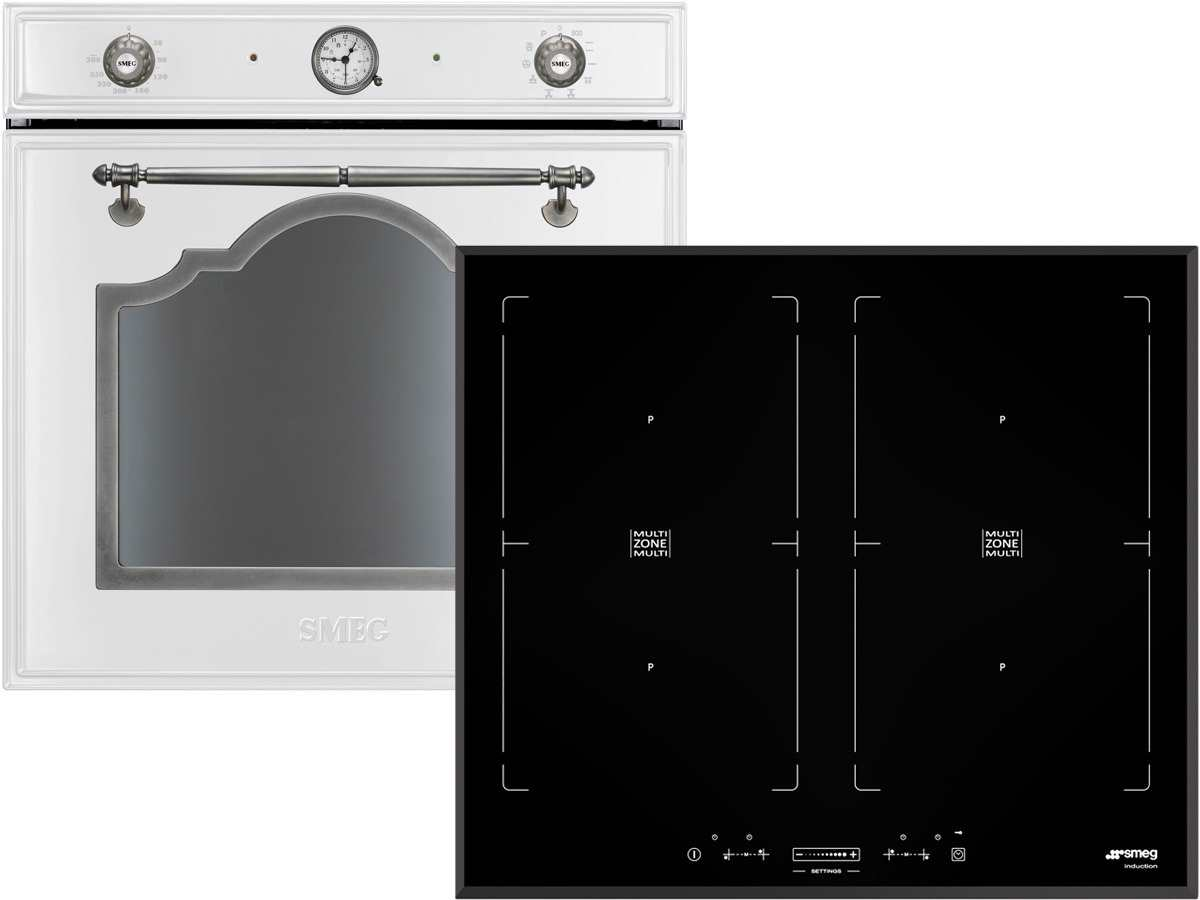 smeg set sfp750bs pyrolyse backofen wei induktion glaskeramik kochfeld sim62bde f r 1648 80. Black Bedroom Furniture Sets. Home Design Ideas